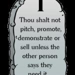 1st Commandment of Selling